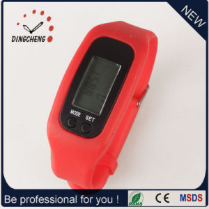 Gift Watch Pedometer Wristwatch Silicone Bracelet Watch (DC-001) pictures & photos
