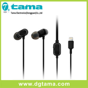New Noise-Cancelling Lightning in-Ear Earphone for iPhone with Microphone pictures & photos