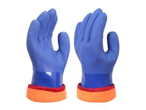 PVC DIP Plastic Gloves Work Gloves 960 pictures & photos