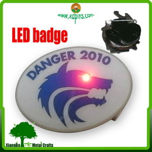 Fashion LED Flash Pin Badge with Custom Own Design pictures & photos