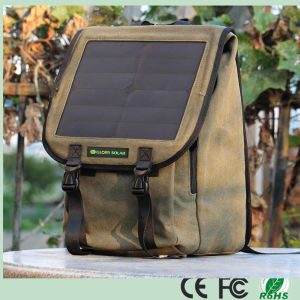 High Quality Multifunctional Solar Backpack Outdoor Travel Solar Charger with 10W Solar Panel for Phones/Camera/Laptop (SB-168) pictures & photos