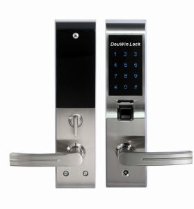 Multi-Point Fingerprint Keypad Home Door Lock with E-Key pictures & photos