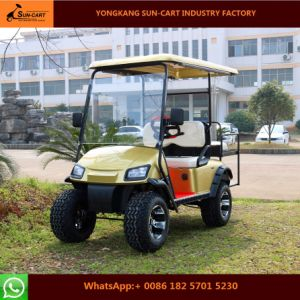 Four Seater Electric Hunting Golf Cart (Electric vehicles with rear flip seats) pictures & photos