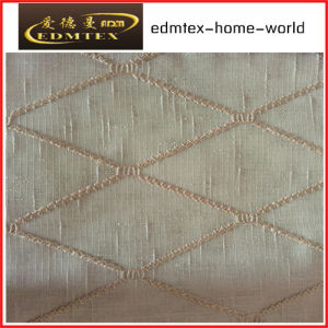 Fashion Embroidered Organza Curtain Fabric EDM2046 pictures & photos