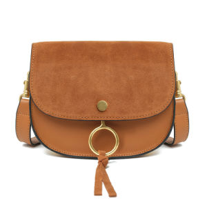 Cross Body Bag Genuine Leather Saddle Bag pictures & photos