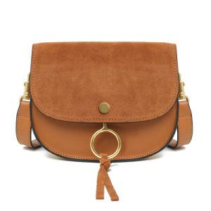 Cross Body Bag Genuine Leather Saddle Bag