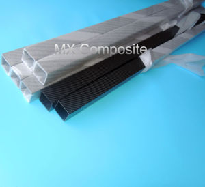 Supply High Quality 3k Carbon Fiber Pipe in Square Shape pictures & photos
