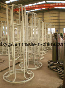 Factory Outlet Powder Coated White Round Base Steel Wire Carrer pictures & photos