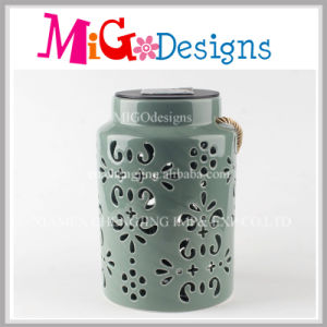 Decorative Openwork Design Ceramic Tea Light Oil Burner pictures & photos