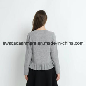 Fair Maiden Solid Color Pure Cashmere Knitwear with Falbala pictures & photos