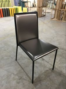 Luxury Silver Leather Hotel Dining Chair (FOH-DCC01) pictures & photos