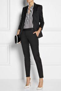 Women′s Navy Slim Fit Suit Stylish Office Lady′s Suit pictures & photos