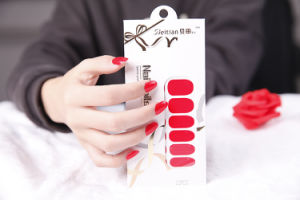 Fashionable Pure Color Non-Toxic adhesive Nail Sticker Art Sticker pictures & photos