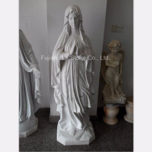 Chinese White Marble St. Mary Sculpture pictures & photos