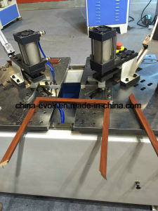 Woodworking CNC Photo Frame Double Corner Nailing Punching Machine (TC-868SD2-80)  pictures & photos