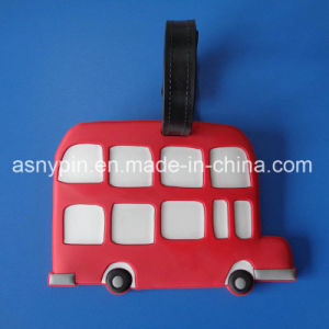 Cute Red&White 3D Bus Design Rubber Travel Luggage Tag pictures & photos