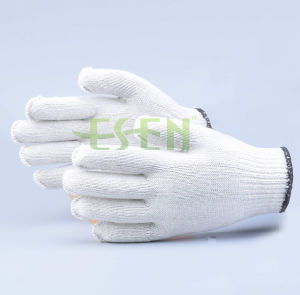 2017 Good Quality and Low Price Industrial Cotton Working Poly Cotton Knitted Gloves Work Gloves pictures & photos