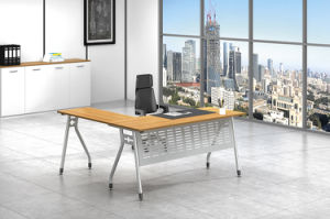 White Customized Metal Steel Office Staff Table Frame with Ht28-6 pictures & photos