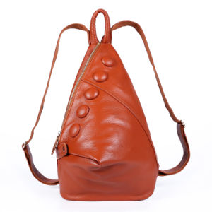 Genuine Leather Leisure Backpack Travel School Bag Outdoor Hiking Backpack pictures & photos