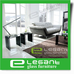 Modern Furniture Clear Tempered Glass Top Center Coffee Table pictures & photos