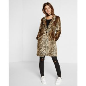 Women′s Leopard Fake Fur Coat, Fashion Clothing pictures & photos