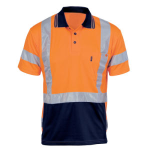 Reflective Strip High Visibility Safety Polo T-Shirt pictures & photos