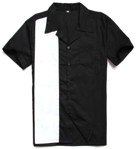 UK Design Button up Male Rockabilly 50s Vintage Bowling Shirts for Men pictures & photos