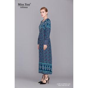 Miss You Ailinna 360525 Women Muslim Blue Dress Wholesale pictures & photos