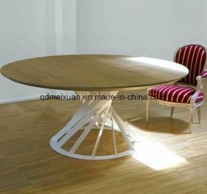 Nordic Solid Wood Table, Solid Wood Round Table Hotel Round Table Table (M-X3772) pictures & photos