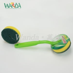 Replaceable Good Selling Handle Brush Sponge Brush for Kitchen Cleaning pictures & photos
