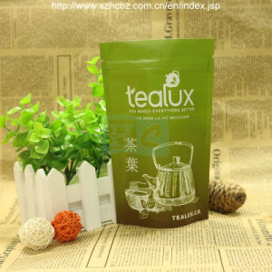 Stand up Zipper Foil Plastic Tea Bag