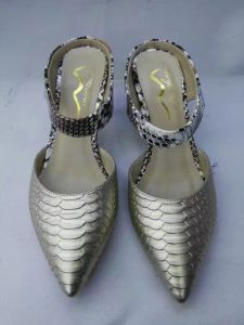 Silver Pointy Stiletto Heel Ladies Dress Shoes (G-33) pictures & photos