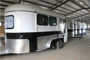 Angle Load 2 Horse Trailer with Length Extended pictures & photos