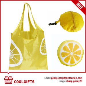 190t Polyester Lemon Folding Shopping Bag for Supermarket pictures & photos
