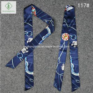 Bag Cravat Silk Stain Fashion Lady Gift Scarf Factory pictures & photos