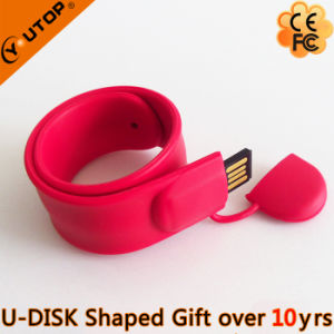 Slap Red Wristband USB Pendrive for Sports Gift (YT-6307) pictures & photos