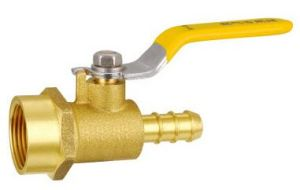 Single Silk Female Thread Brass Ball Gas Valve pictures & photos