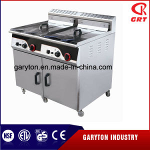 Double Tank Commercial Gas Deep Fryer with Cabinet (GRT-G92) pictures & photos