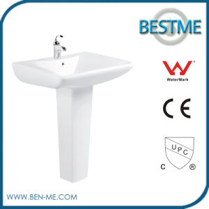 Factory Price Laundry Ceramic Pedestal Basin Made in China pictures & photos