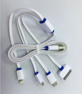 Multi Charging Pots /Colors 2.4A Charging Quick Charger USB Cable with Design pictures & photos