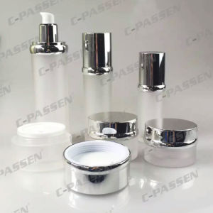 Pearl White Acrylic Cosmetic Packaging Cream Jar Lotion Bottle (PPC-NEW-043) pictures & photos