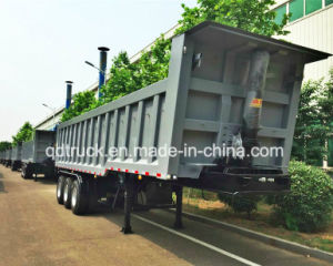 Three Axle Hydraulic Cylinder Dump Trailer, Rear Dumper Truck Trailer pictures & photos