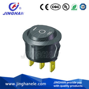 3 Pin on-off-on Round Rocker Switch Dia: 20mm pictures & photos