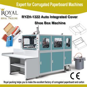 Auto Integrated Cover Shoe Box Making Machine pictures & photos
