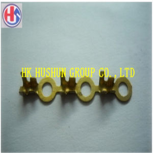 6.3mm Brass Crimp Terminal Cable Female Spade Connector (HS-FT-001) pictures & photos