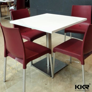 Artificial Stone Small Fast Food Modern Dining Table pictures & photos