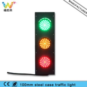 Mini Steel Housing 125mm Red Yellow Green Traffic Signal Light pictures & photos