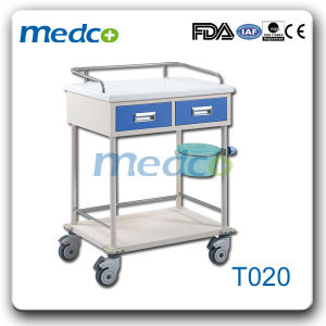 Painted Steel Hospital Medical Trolley for Patient Treatment pictures & photos