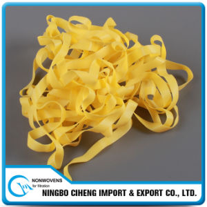 Wholesale Elastic Tape Respirator Yellow Flat TPU Elastic Band pictures & photos