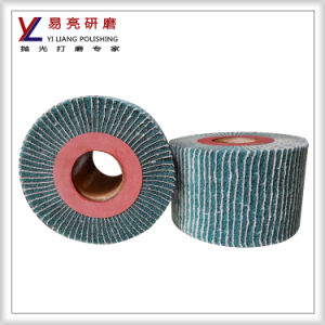 Metal Satin, Wire Drawing and Hairline Polishing Abrasive Non Woven Flap Wheel pictures & photos